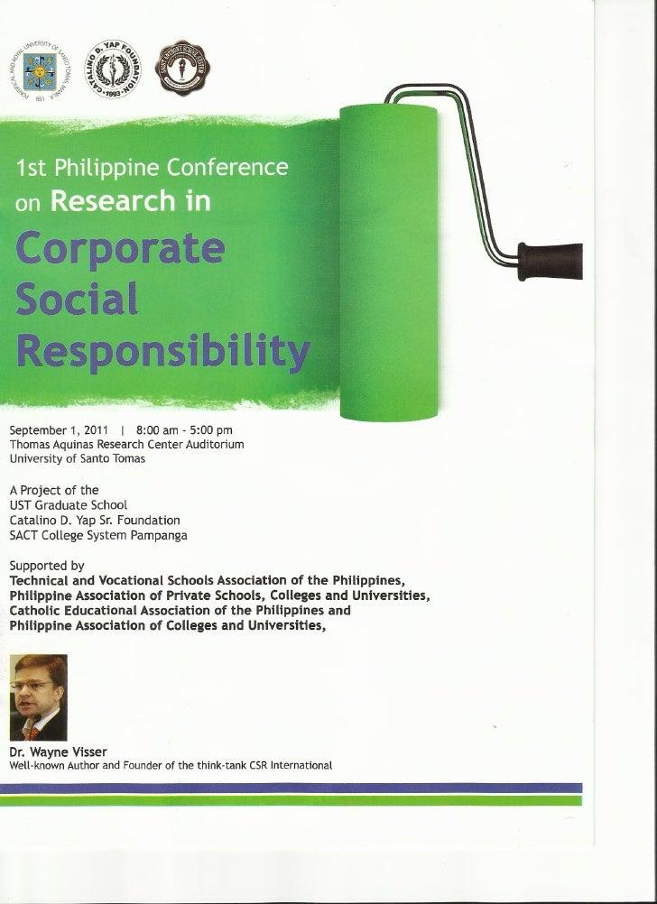 1st Philippine CSR Research