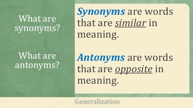 definition essay synonym