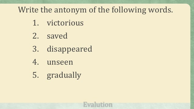 Help with thesis statement synonym and antonym