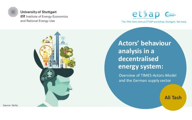 Actors' behaviour analysis in a decentralised energy system: Overview of TIMES-Actors-Model and the German supply sector A...