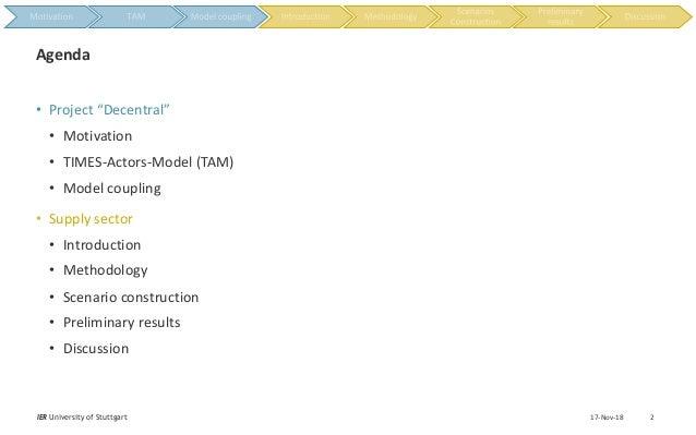 "• Project ""Decentral"" • Motivation • TIMES-Actors-Model (TAM) • Model coupling • Supply sector • Introduction • Methodolog..."