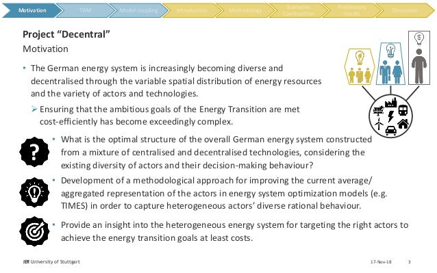 • The German energy system is increasingly becoming diverse and decentralised through the variable spatial distribution of...