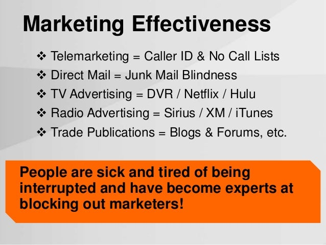 Effectiveness of direct mail on cigarette vending industry