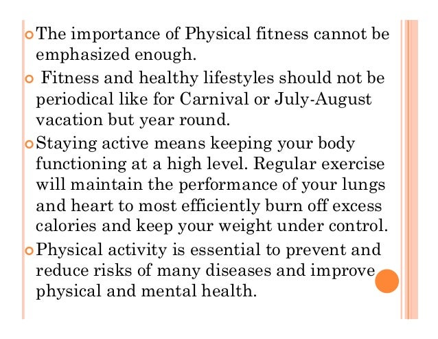 theimportance of physical fitnesscannot be emphasized Find and save current fitness trends be inspired by the latest activewear, gym gear, and beach toned bodies ultimate motivational quotes to help set your goals  in today's society, the.