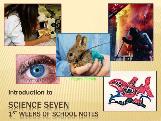 SCIENCE SEVEN 1ST WEEKS OF SCHOOL NOTES Introduction to Pygmy Rabbit
