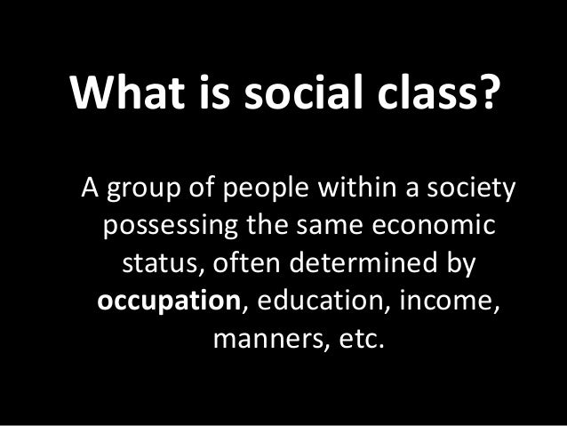 1st year lecture 3 social class october 2016