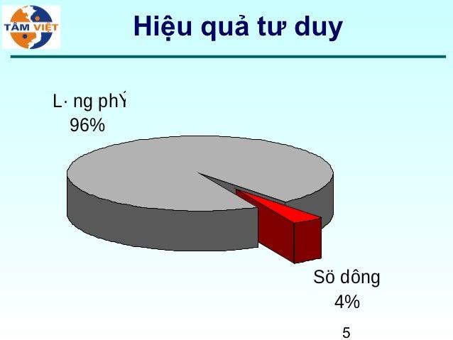Hiệu quả tư duyL· ng phÝ  96%                        Sö dông                          4%                          5