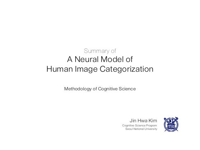 Summary of  A Neural Model of Human Image Categorization Methodology of Cognitive Science  Jin Hwa Kim Cognitive Science P...