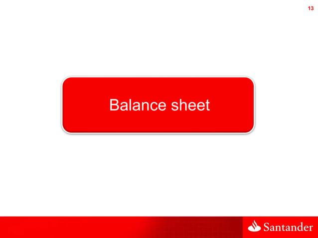 13 Balance sheet