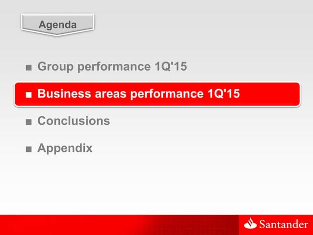19 Agenda ■ Group performance 1Q'15 ■ Business areas performance 1Q'15 ■ Conclusions ■ Appendix
