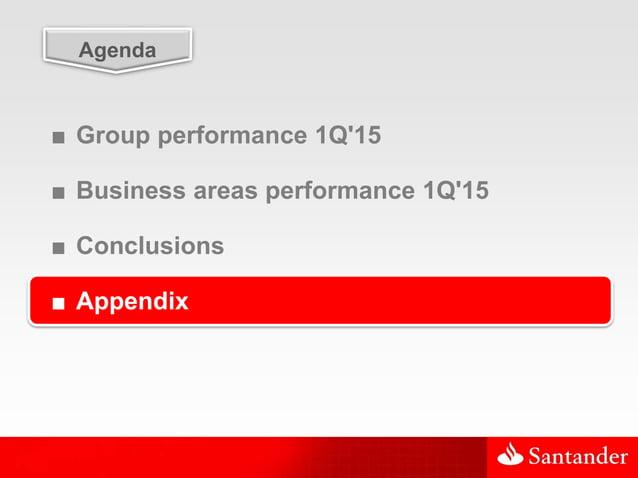 34 Agenda ■ Group performance 1Q'15 ■ Business areas performance 1Q'15 ■ Conclusions ■ Appendix