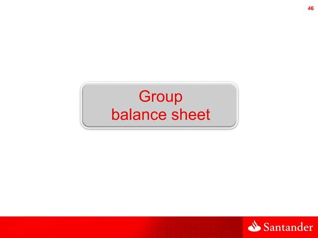 46 Group balance sheet
