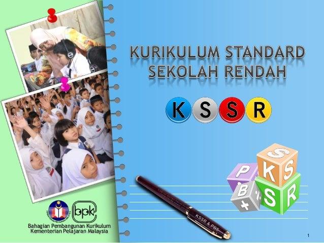 Bahagian Pembangunan KurikulumKementerian Pelajaran Malaysia1