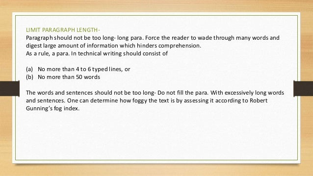 Technical writing notes ks