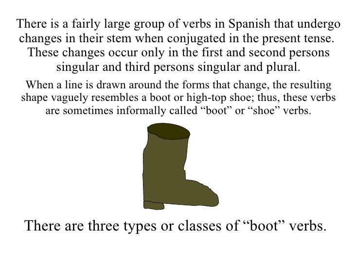 1 the present tense of stem changing verbs Slide 2