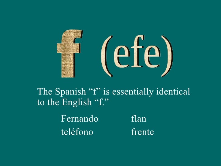 Spanish Words With The Letter Efe