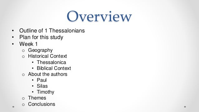 Perspective: A Study Of 1st And 2nd Thessalonians | Bible.org