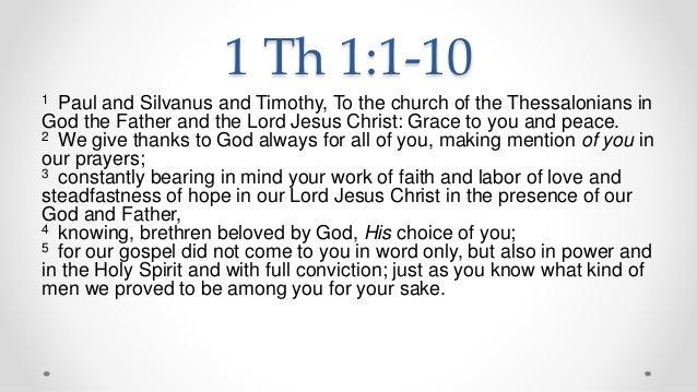 1 Thessalonians 1 Commentary - James Burton Coffman ...