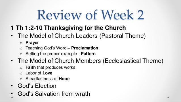 1 Thessalonians 2 - Paul's Ministry in Thessalonica - You ...
