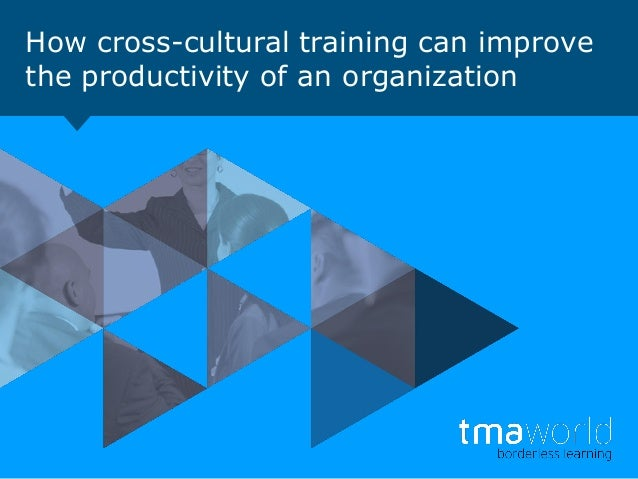 How cross-cultural training can improve the productivity of an organization