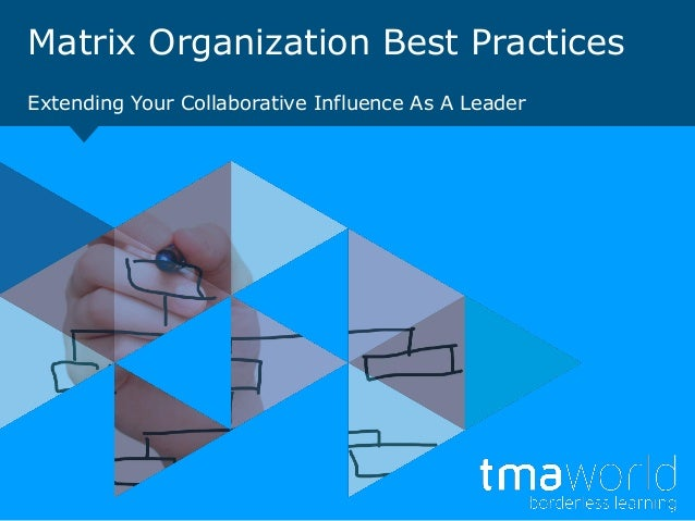 Matrix Organization Best PracticesExtending Your Collaborative Influence As A Leader