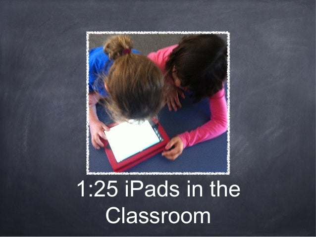 1:25 iPads in theClassroom