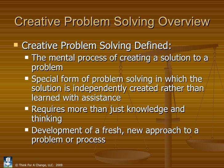 problem solving is defined as
