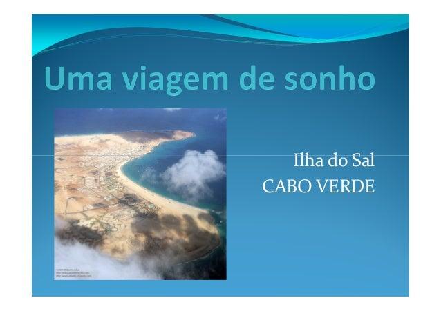 Ilha do SalIlha do Sal CABO VERDE