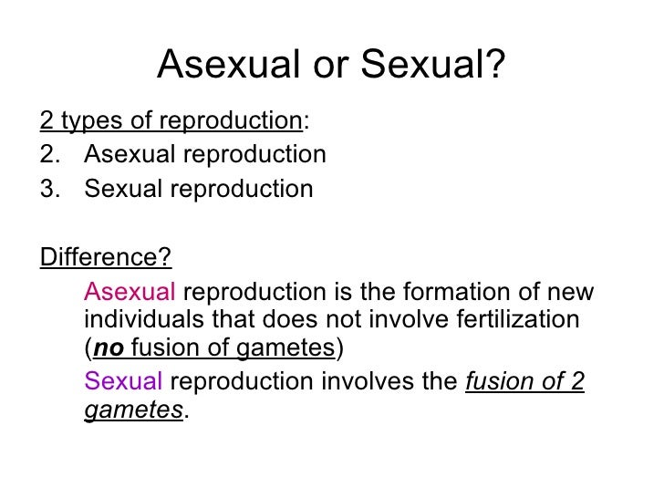 Asexual and sexual reproduction in plants differences in religions