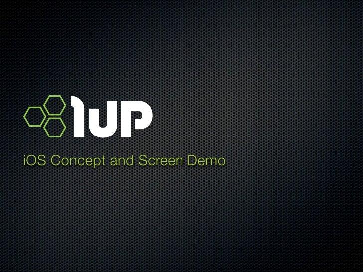 iOS Concept and Screen Demo