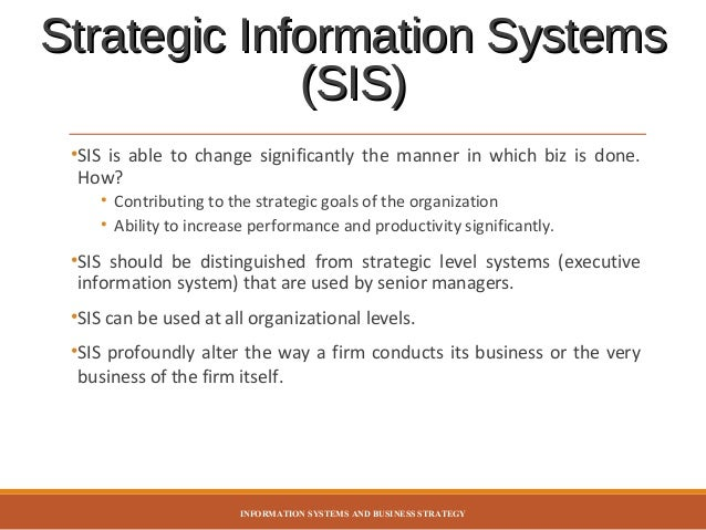 information systems strategy This paper proposes a framework for the development of information systems strategies and plans driven by business objectives and strategies it provides an integrated framework for the.