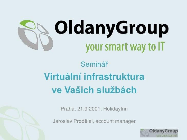 Seminář<br />Virtuální infrastruktura <br />ve Vašich službách<br />Praha, 21.9.2001, HolidayInnJaroslav Prodělal, account...
