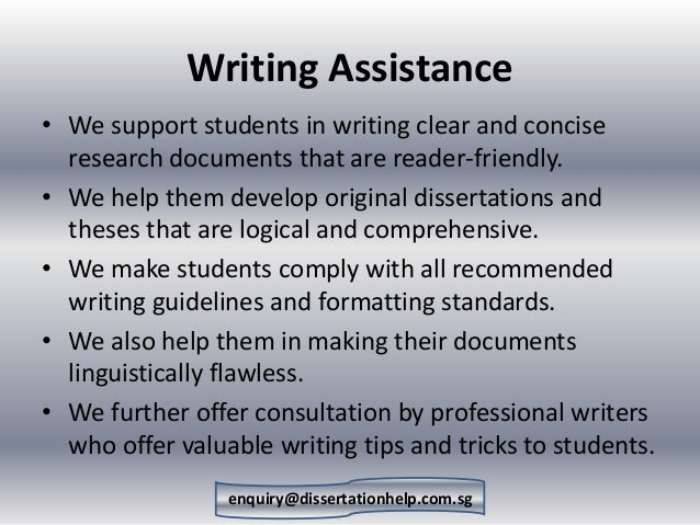 dissertation consulting services financial