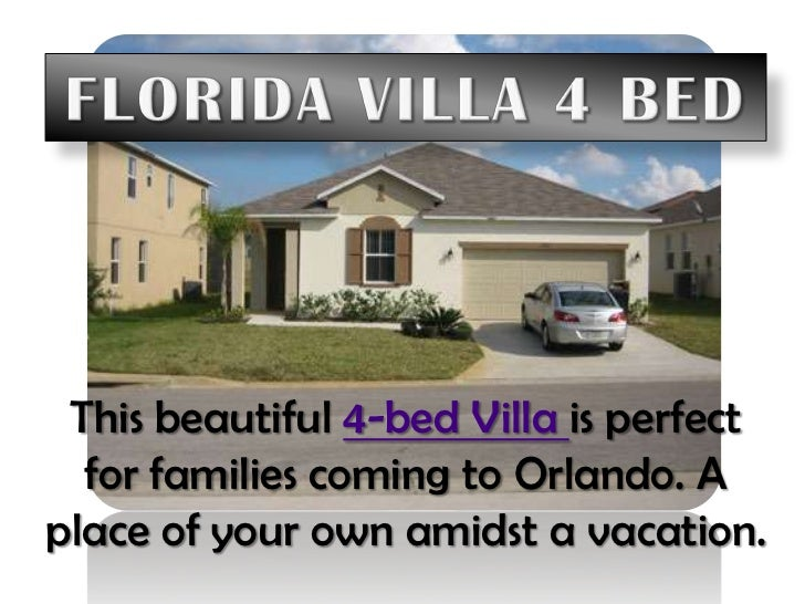 Florida Villa 4 Bed<br />This beautiful 4-bed Villa is perfect for families coming to Orlando. A place of your own amidst ...