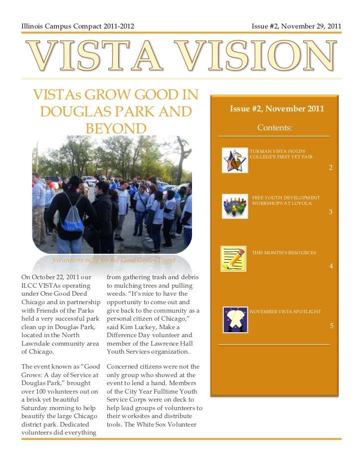 21    Illinois Campus Compact 2011-2012                                      Issue #2, November 29, 2011       VISTAs GROW...