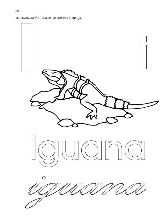 JGG INDICACIONES: Ilumina las letras y el dibujo.