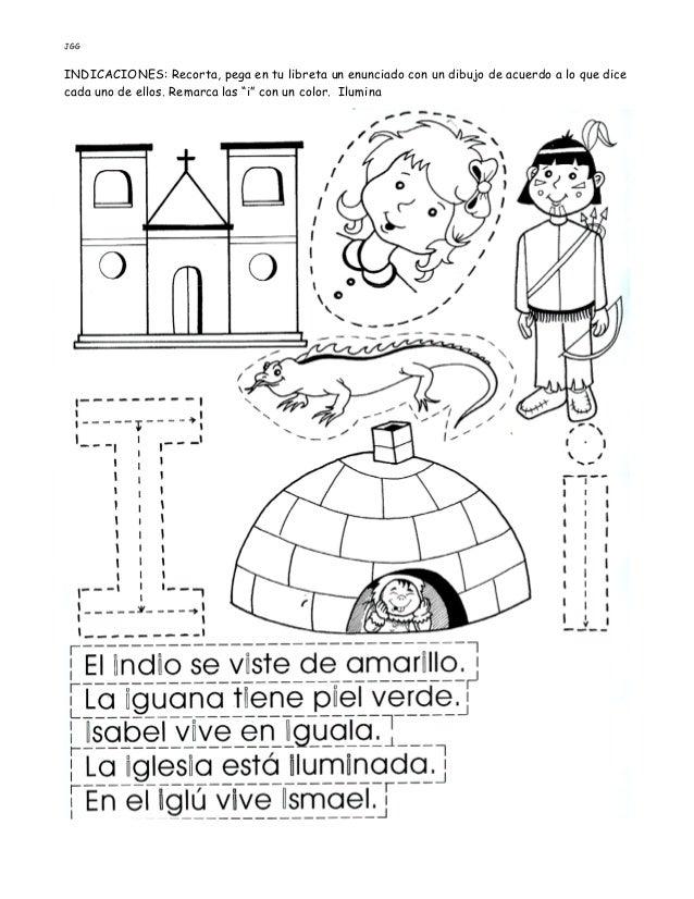 JGG INDICACIONES: Recorta, pega en tu libreta un enunciado con un dibujo de acuerdo a lo que dice cada uno de ellos. Remar...