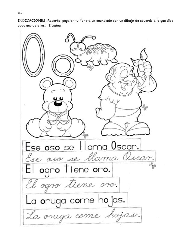 JGG INDICACIONES: Recorta, pega en tu libreta un enunciado con un dibujo de acuerdo a lo que dice cada uno de ellos. Ilumi...