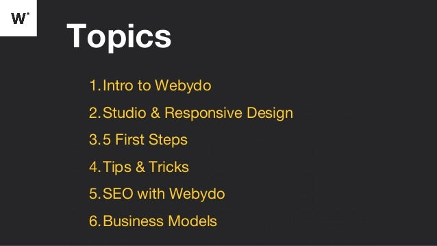 Taking Your First Steps with Webydo Slide 2