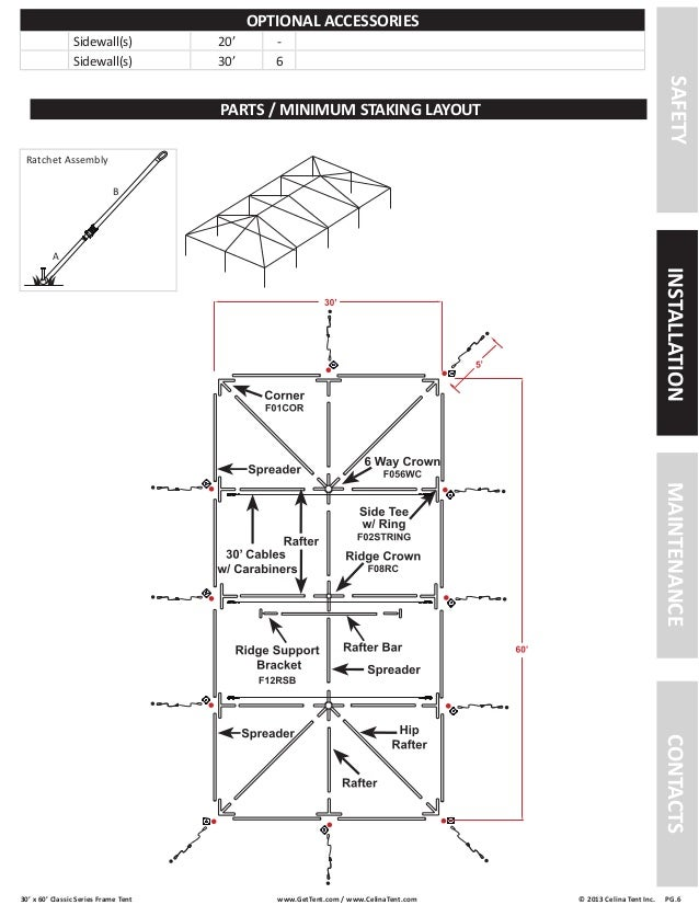 30 x 60 Frame Tent Installation Instructions