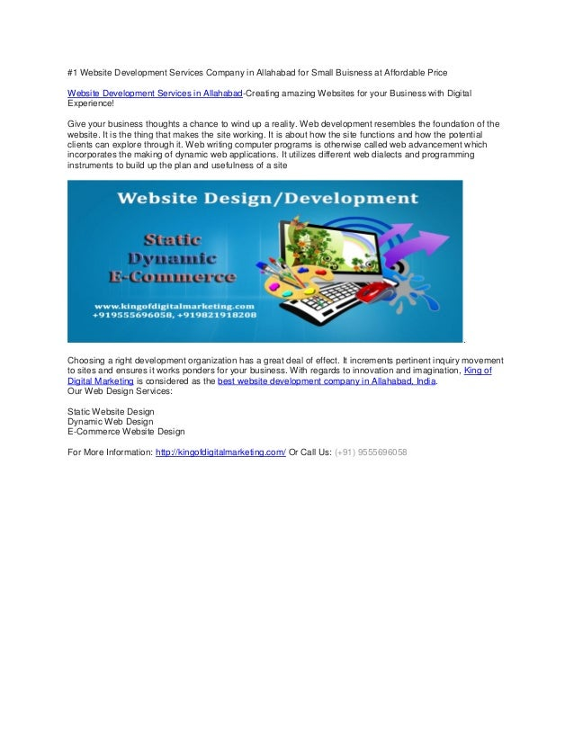 #1 Website Development Services Company in Allahabad for Small Buisness at Affordable Price Website Development Services i...