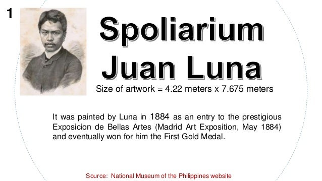 Size of artwork = 4.22 meters x 7.675 meters It was painted by Luna in 1884 as an entry to the prestigious Exposicion de B...