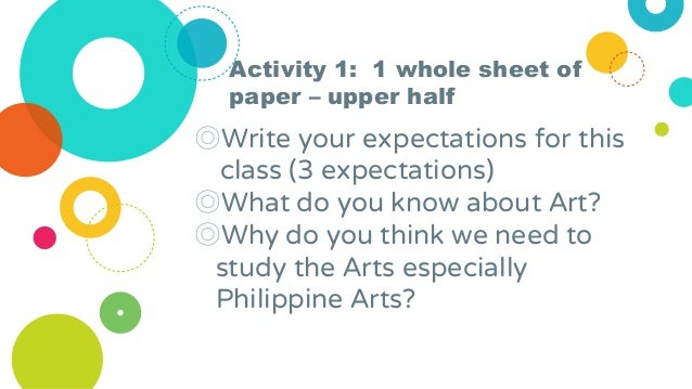 Activity 1: 1 whole sheet of paper – upper half ◎Write your expectations for this class (3 expectations) ◎What do you know...