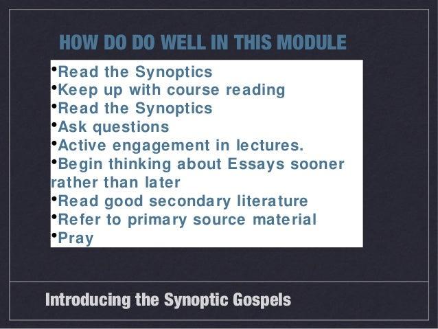 synoptic essay