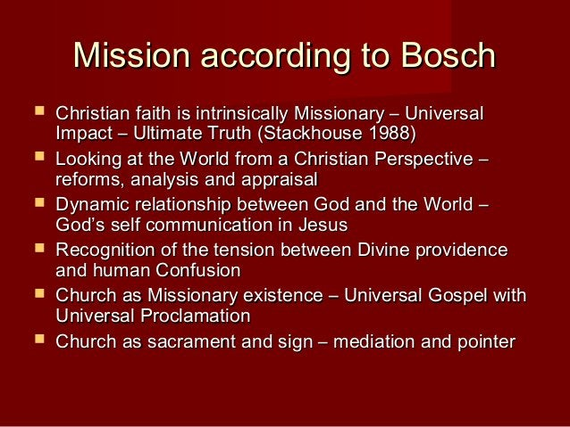 Holistic Mission Plurality of Mission Prophetic Liberative Nourishes Culture Building Communities Proclamation Development...