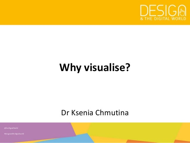 @DesDigitalWorld #designandthedigitalworld Why visualise? Dr Ksenia Chmutina