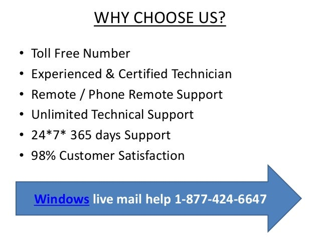 windows live mail help contact 1