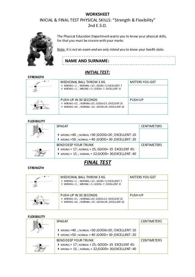 Divine image for physical education printable worksheets