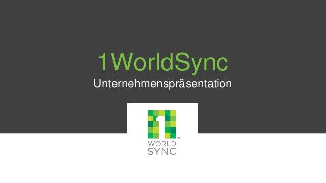 1WorldSync Unternehmenspräsentation