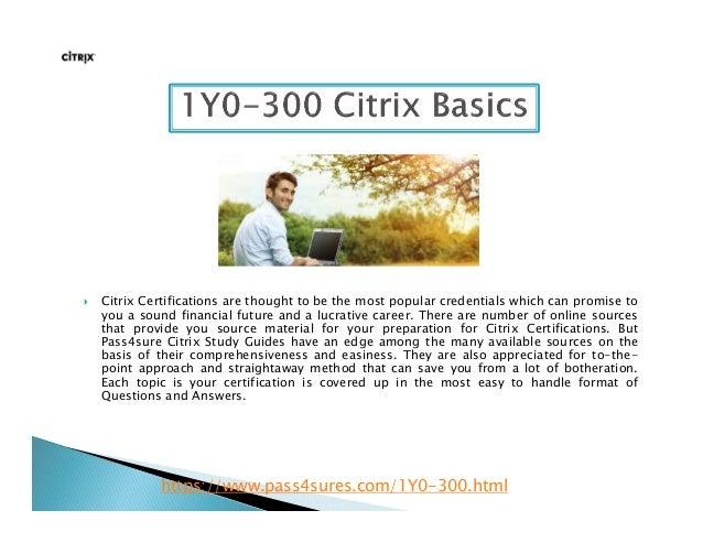 Citrix Learning Materials & Citrix Study Guide & Citrix ...